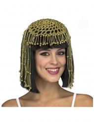 Königin des Nils Perücke für Damen antikes-Zubehör schwarz-goldfarben