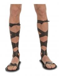 Römische-Sandalen Kostüm-Zubehör für Herren Schuhe braun