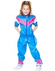 80er-Jahre-Trainingsanzug für Kinder blau-pink