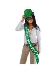 St. Patrick´s Day-Schärpe Irish Whiskey makes me frisky-Accessoire grün