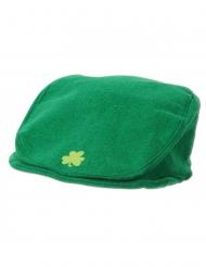 Lustige Kleeblatt-Flatcap St. Patrick´s Day Mütze grün
