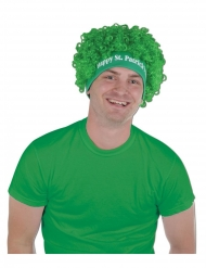 St. Patrick´s Day-Perücke Accessoire für Erwachsene Afro-Perücke grün