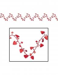 Herzchen-Girlande für Hochzeiten oder Valentinstag Deko rot 7 m