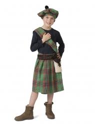 Schottische-Verkleidung für Kinder Faschings-Kostüm Länder grün-rot