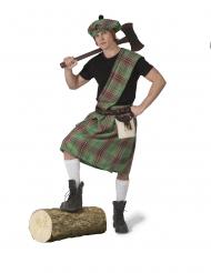 Schottisches-Kostüm für Herren Länder-Kostüm grün-rot