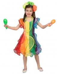 Regenbogen-Kostüm für Mädchen tänzerische-Verkleidung bunt