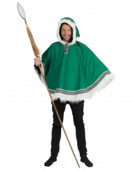 Eskimo-Poncho Kostümzubehör für Erwachsene Faschings-Kostüm grün-weiss