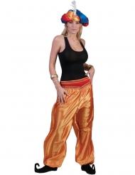 Orientalische-Tänzerin-Hose für Damen Haremshose für Fasching orange