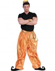 Orientalische-Tänzerhose für Herren Kostümzubehör orange-goldfarben
