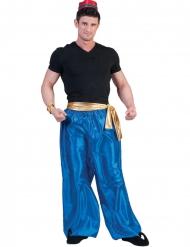 Orientalische-Herrenhose Kostümzubehör für Fasching blau-goldfarben