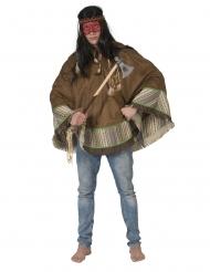 Indianer-Poncho Faschings-Kostüm für Erwachsene Deluxe braun