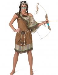 Stilvolles Indianer-Kostüm für Fasching braun-beigefarben