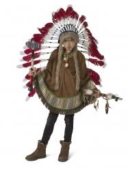 Indianer-Poncho für Fasching Kostüm-Zubehör für Kinder braun