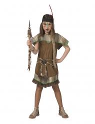 Indianerin-Kostüm für Mädchen Faschings-Verkleidung braun