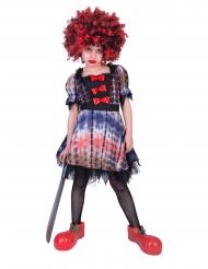 Böser-Clown-Kostüm für Mädchen Halloween-Kostüm für Kinder bunt