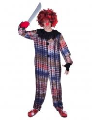 Gruseliger Clown Horrorclown-Kostüm für Erwachsene bunt
