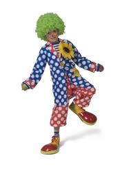 Gepunktete Clown-Jacke für Kinder blau-weiss-rot
