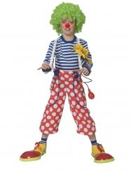 Lustige Clown-Hose mit Hosenträgern für Kindern rot-weiss
