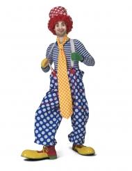Extra lange Clown-Krawatte für Erwachsene gelb