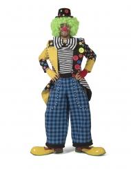 Clown-Jacke Herren-Frack Kostümzubehör mit Fliege bunt