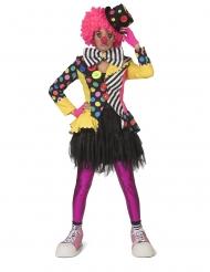 Clownjacke mit Flicken Faschings-Kostüm für Damen bunt