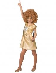 Disco-Kleid 70er-Jahre Kostüm für Mädchen Faschings-Verkleidung gold-silber