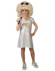 70´s Disco-Kostüm für Mädchen Faschings-Verkleidung silber-gold