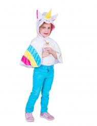 Einhorn-Poncho für Mädchen Kostüm-Zubehör für Fasching bunt