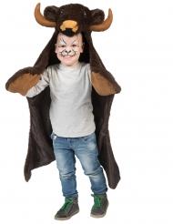 Bison-Cape für Kinder Wilder-Westen-Kostüm braun