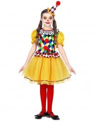 Clown-Mädchenkostüm für Fasching Zirkus bunt