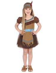 Indianer-Mädchenkostüm Faschings-Verkleidung braun-beige