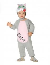 Katzen-Babykostüm für Fasching Tier-Verkleidung grau-rosa