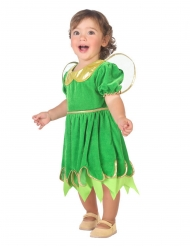 Zauberhaftes Feen-Kostüm für Kleinkinder Märchen grün-goldfarben