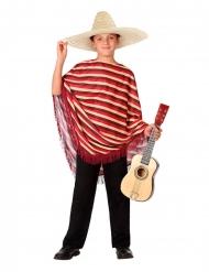 Mexikaner-Kostüm für Jungen mit Poncho rot-braun.