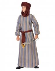 Arabisches Prinzenkostüm für Kinder Faschings-Verkleidung braun-blau