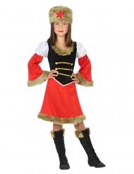 Russisches-Kostüm für Mädchen Faschings-Verkleidung rot-braun-schwarz