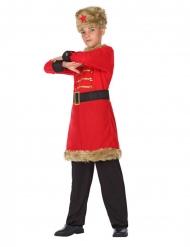 Kulturelles Kostüm für Jungen russische-Verkleidung rot-braun-schwarz