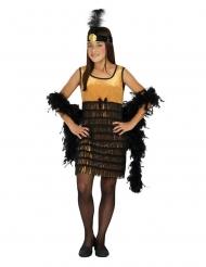 20er-Jahre Charleston-Kostüm für Mädchen Faschings-Kostüm schwarz-gold