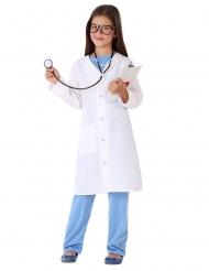 Medizinerin-Mädchenkostüm Arzt-Verkleidung für Fasching blau-weiss