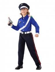 Carabinieri Polizist Kinderkostüm für Fasching blau-weiss-rot