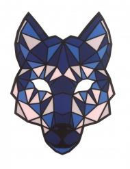 Leuchtende Wolf-Maske mit LED-Funktion musiksensitiv blau