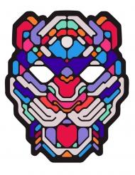 Stilvolle Leoparden LED-Maske Musik-sensibel bunt
