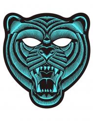 LED-Tigermaske für Fasching oder Festivals türkisfarben-schwarz
