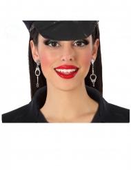 Handschellen Ohrringe für Polizisten-Kostüme Erwachsene