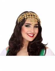 Orientalisches Kopfband Damen-Accessoire Fasching gold