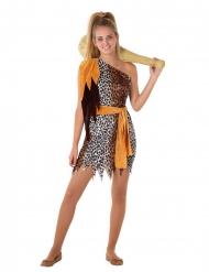 Prähistorische-Verkleidung Teenager-Kostüm für Fasching braun-orange