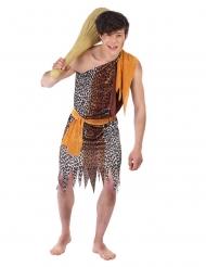 Höhlenmensch-Kostüm für Jugendliche braun
