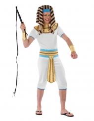 Ägyptischer Pharao Teenager-Kostüm für Jungen weiss-gold-blau
