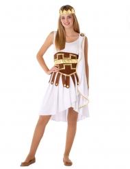 Antike-Göttin Kostüm für Jugendliche Faschings-Verkleidung weiss-braun-gold