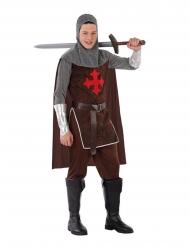 Furchtloses Kreuzritter-Kostüm für Teenager Faschingskostüm braun-grau